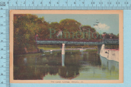 CPSM Lindsay Ontario Canada-The Canal -  Used In 1944 Stamp  Canada 2X  1¢ - Ontario