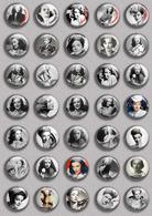 GENE TIERNEY Movie Film Fan ART BADGE BUTTON PIN SET (1inch/25mm Diameter) 35 DIFF - Films