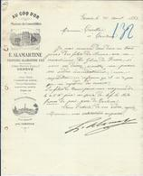 1893 Genève - Au Coq D'Or E Alamartine Maison De Comestibles - Switzerland
