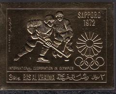 Ras Al Khaima 30.06.1970 Mi # 376B, Sapporo Winter Olympics (I) MNH OG - Invierno 1972: Sapporo