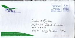 France Monswiller 2006 / Sicteu De Hochfelden Et Environs / Coat Of Arms / Machine Stamp - Postmark Collection (Covers)