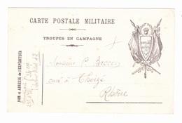 Carte En Franchise Militaire - Faisceau De 2 Drapeaux - Cartes De Franchise Militaire