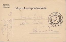 Feldpostkarte Iglau Nach Stein A.d. Donau - (35636) - Briefe U. Dokumente