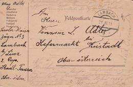 Feldpostkarte - Tiroler Kaiser Jäger No. 3 - Lambach Nach Kefermarkt - 1915 (35638) - Brieven En Documenten