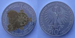 GERMANIA 10 M  1992 ARGENTO DORATA RARA ORDINE PER IL MERITO CIVILE PESO 15,5g TITOLO 0625 CONSERVAZIONE COME DA FOTO - [10] Commémoratives