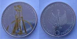 GERMANIA 10 M  1997 ARGENTO DORATA RARA MOTORE DIESEL 100 ANNI PESO 15,5g TITOLO 0625 - [10] Commemorative