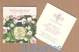 CC Carte Parfumée 'YSL' ROSE DES VERGERS Perfume Card JAPAN - Modern (from 1961)