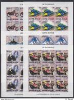 M19. 9x Guine-Bissau - MNH - Famous People - Jules Verne - Transport - 2005 - Full Sheet - Imperf - Célébrités