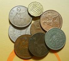 Lot 8 Coins Great Britain - Mezclas - Monedas