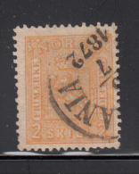 Norway 1867-68 Used Scott #12 2s Coat Of Arms CDS: 1872 - Norvège