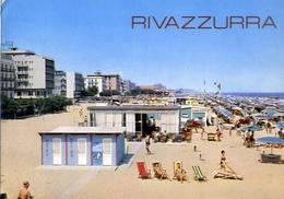 Rivazzurra - Alberghi E Spiaggia - Formato Grande Viaggiata – E 6 - Rimini