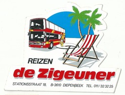 Sticker - Reizen De ZIGEUNER - Stationstraat Diepenbeek - Pegatinas