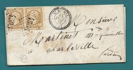 Aisne - St Michel Pour Charleville. GC 4505 + CàD Perlé Type 22. Indice 9 =60e - 1849-1876: Période Classique