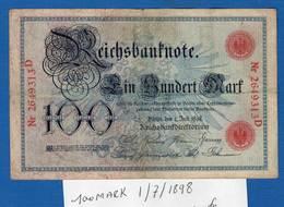 100  Mark  1/7/1898 - [ 1] …-1871 : Etats Allemands