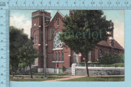 CPA - Baptist Church , Orillia Ontario Canada, On Valentine Card -  Used In 1907 Stamp  Canada 1¢ - Ontario