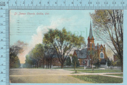 CPA - St. James , Orillia Ontario Canada, On Stedman Card -  Used In 1909 Stamp  Canada 1¢ - Ontario