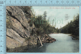 CPA - On The Seguin River Georgian Bay Ontario , On Stedman Card -  Used In 1909 Stamp  Canada 1¢ - Ontario