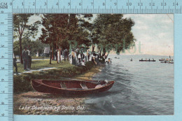CPA - Animated Lake Couchiching Orillia Ontario , OnW.G. Mac Farlane Card -  Used In 1908 Stamp  Canada 1¢ - Ontario