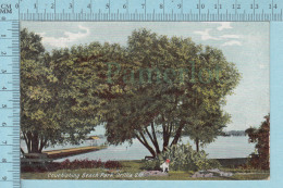 CPA -  Couchiching Beach Park Orillia Ontario , On W.G. Mac Farlane Card -  Used In 1908 Stamp  Canada 1¢ - Ontario