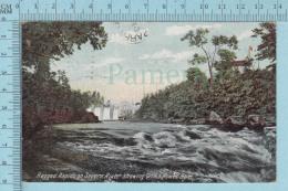 CPA - Ragged Rapids Severn River, Power Dam, Orillia Ontario On W.G. Mac Farlane Card -  Used In 1907 Stamp  Canada 1&ce - Ontario