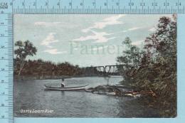CPA - On The Severn River +steel Bridge Orillia Ontario On W.G. Mac Farlane Card -  Used In 1907 Stamp  Canada 1¢ - Ontario