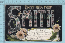 CPA-  Big Letters Women InGreeting From SMITH Cover NorthHampton By Robin Bros.  -  Used In 197 StampUS 1¢ - Souvenir De...
