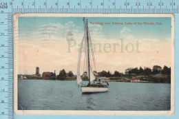 CPA-  Yachting Near Kenora, Lake Of The Woods Ontario -  Used In 1916  Stamp CND 2¢ - Ontario