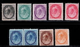 Canada 1898-1902 MH SG 150/161 Cat £627 - Unused Stamps