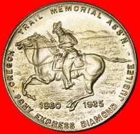 √ PONY EXPRESS OREGON: USA ★ DOLLAR 1860-1935 UNC MINT LUSTER! LOW START ★ NO RESERVE! - Professionals/Firms