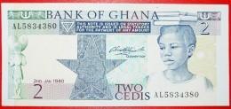 § BOOKS: GHANA ★ 2 CEDIS 1980 CRISP! LOW START ★ NO RESERVE! - Ghana