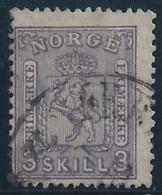 NORUEGA 1867 - Yvert #13 - VFU - Noruega