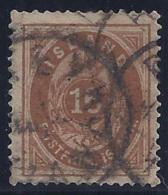 ISLANDIA 1876 - Yvert #9 - FU - 1873-1918 Dependencia Danesa