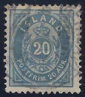 ISLANDIA 1876 - Yvert #14b - VFU - 1873-1918 Dependencia Danesa