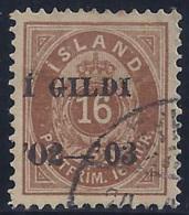 ISLANDIA 1902 - Yvert #28A - VFU - Oblitérés