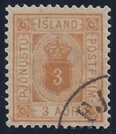 ISLANDIA 1876/1901 - Yvert #53 (servicio) - VFU - 1873-1918 Dependencia Danesa