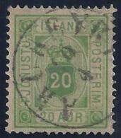 ISLANDIA 1876/1901 - Yvert #58 (servicio) - VFU - 1873-1918 Dependencia Danesa