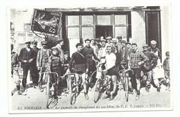 En Touraine Cyclisme Les Gagnants Du Championnat Des 100 Km Du VTC 1907 - REPRODUCTION CPA - Radsport
