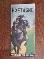 Bretagne Illustré Par Reschofsky,  Dinan Morlaix Saint Servan Brieuc Vitré Rennes Trébeurden Fougères Brest Trestel SNCF - Dépliants Touristiques