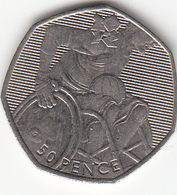 Great Britain UK 50p Coin Wheelchair Rugby 2011 (Small Format) Circulated - 50 Pence