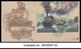 SOUTH AFRICA - 1999 SAPDA '99 / RAILWAY LOCOMOTIVE - M/S - FDC - Trains