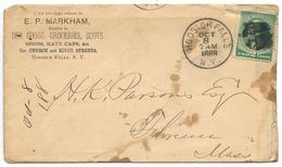 United States 1888 Cover Hoosick Falls NY To Florence MA, Scott 213 - 1847-99 Algemene Uitgaves
