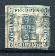 19468) MECKLENBURG-SCHWERIN # 3 Gestempelt Aus 1856, 400.- € - Mecklenburg-Schwerin