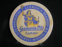 Bierviltje / Bierdeckel / Sous Bock / Beer Mats: -  Germania Brauerei Wiesbaden  - Germania Pils - Sotto-boccale