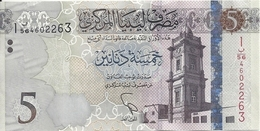 LIBYE 5 DINARS ND2015 UNC P 81 - Libye