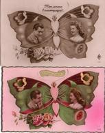 Fantaisie Papillon 3, X2 Couple Sur Ailes - Papillons