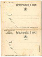 Belgium 19th C. Carte-correspondance De Service, Ministere Des Travaux Publics, Administration De La Marine - Stamped Stationery
