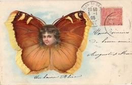 Fantaisie Papillon 10, Surréalisme Tête D'enfant - Papillons