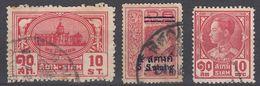 SIAM - Lotto Tre Valori Obliterati: Yvert 115, 196 E 227, Come Da Immagine. - Siam