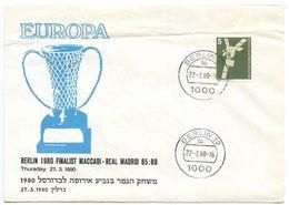 Germany, Berlin 1980 Commemorative Cover Finalist Maccabi Games - Covers