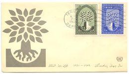 Iran 1960 Scott 1154-1155 FDC World Refugee Year - Iran